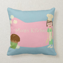 Custom Baker Cartoon Throw Pillow