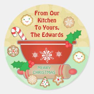 Custom Baker's / Cook  Christmas Stickers