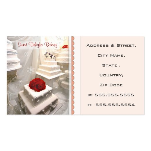 2 000 Wedding Cake Business Cards and Wedding Cake
