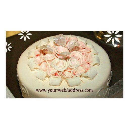 Custom Bakery / Wedding Cakes  Business Card (back side)