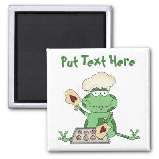 Custom Baking Frog 2 Inch Square Magnet