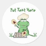 Custom Baking Frog Round Stickers