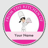 Custom Baking Label with Illustration