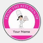 Custom Baking Label with Illustration Classic Round Sticker