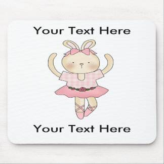 Custom Ballerina Bunny Mousepad - Customizable