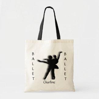 Custom Ballet Silhouette Tote Bag