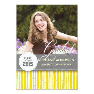 Custom bamboo graduation anncouncement 4.5x6.25 paper invitation card
