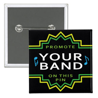Custom Band Logo Flair Button Pin