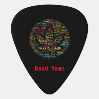Custom Band Name Guitar Player Pot Leaf Word Art Pick