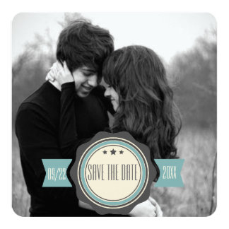 """Custom Banner Save the Date 5.25"""" Square Invitation Card"""