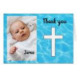 Custom Baptism thank you Card