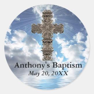 Custom Baptism With Cross Inspirational Stickers