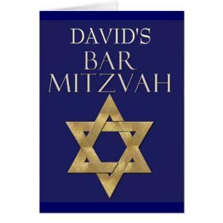 Custom Bar Mitzvah Invitation Greeting Card