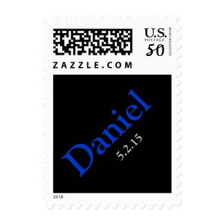 Custom Bar Mitzvah Name and Date Stamp