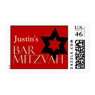 Custom Bar Mitzvah Postage for Justin