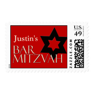 Custom Bar Mitzvah Postage for Justin