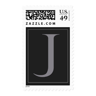 Custom Bar Mitzvah Postage - initial J