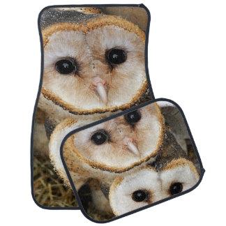 Custom barn baby owls car floor mat