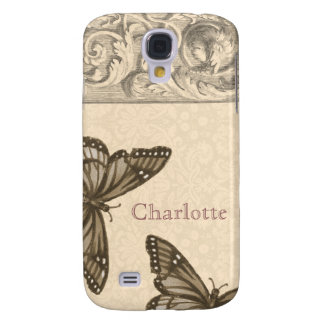 Custom Baroque Embellishment with Butterfly Galaxy S4 Case