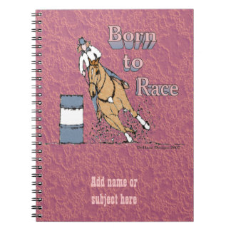 Custom Barrel Racing Notebook