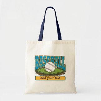 Custom Baseball Add Text Canvas Bag