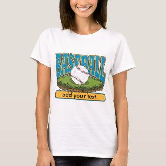 Custom Baseball Add Text T-Shirt