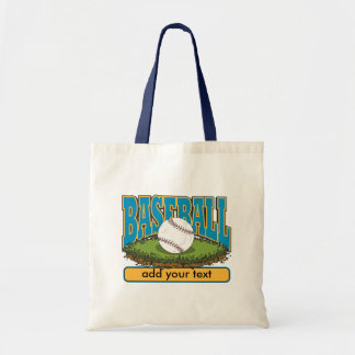 Custom Baseball Add Text Tote Bag
