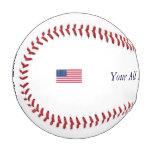 Custom Baseball American Flag