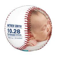 Custom Baseball Baby Birth Announcement Photos