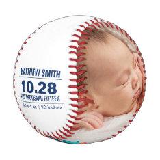 Custom Baseball Baby Birth Announcement Photos at Zazzle