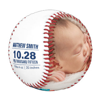 Custom Baseball Baby Birth Announcement Photos