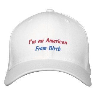 Custom Baseball Cap American from Birth Embroidery