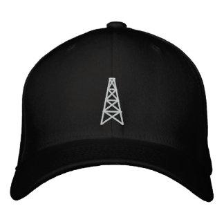 Custom Baseball Cap with oilfield derrick