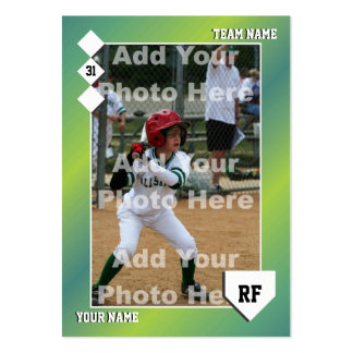 Custom Baseball Card Business Card