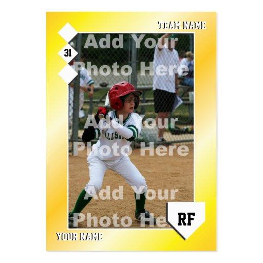 Baseball business card templates bizcardstudio custom baseball card business cards colourmoves