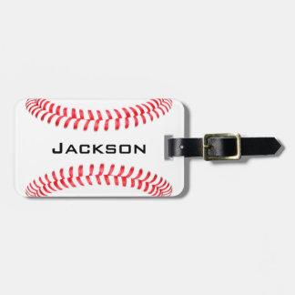 Custom Baseball Luggage Tags