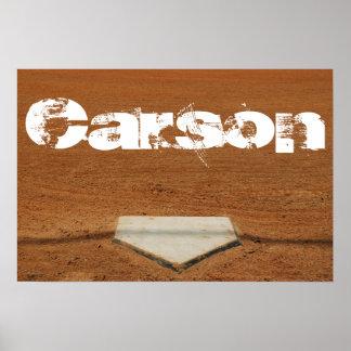 Custom Baseball or Softball Poster - Home Plate