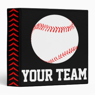 Custom Baseball Player, Coach or Team Binder