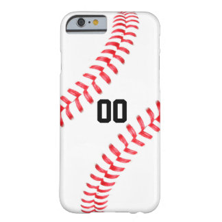 Custom Baseball Player Jersey Number iPhone 6 Case