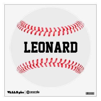 Custom Baseball Round Wall Decal
