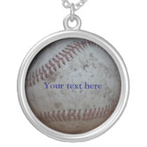 Custom Baseball Silver Plated Necklace