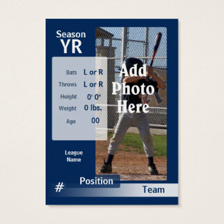 Custom Baseball Trading Card in Blue