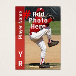 Custom Baseball Trading Card in Red