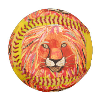 Custom Baseball with Bold Lion