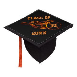 Custom Baseball with flame graduation cap topper
