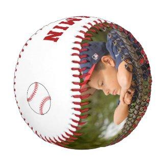 Custom Baseball with Name Number Photo Kids