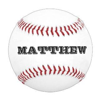 Custom baseball with personalizable name or slogan