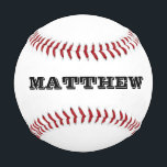 """Custom baseball with personalizable name or slogan<br><div class=""""desc"""">Personalized baseball with custom monogrammed name initials letters. Make your own unique baseball with your monogram, slogan or saying. Unique gift idea for players, sports fans and school coach. Cute gift idea for men women and kids (boys and girls) Fun game present or favor for sports themed wedding, childrens birthday...</div>"""