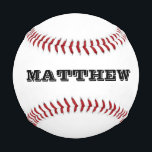 "Custom baseball with personalizable name or slogan<br><div class=""desc"">Personalized baseball with custom monogrammed name initials letters. Make your own unique baseball with your monogram, slogan or saying. Unique gift idea for players, sports fans and school coach. Cute gift idea for men women and kids (boys and girls) Fun game present or favor for sports themed wedding, childrens birthday...</div>"