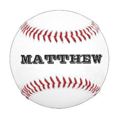 Custom Baseball With Personalizable Name Or Slogan at Zazzle
